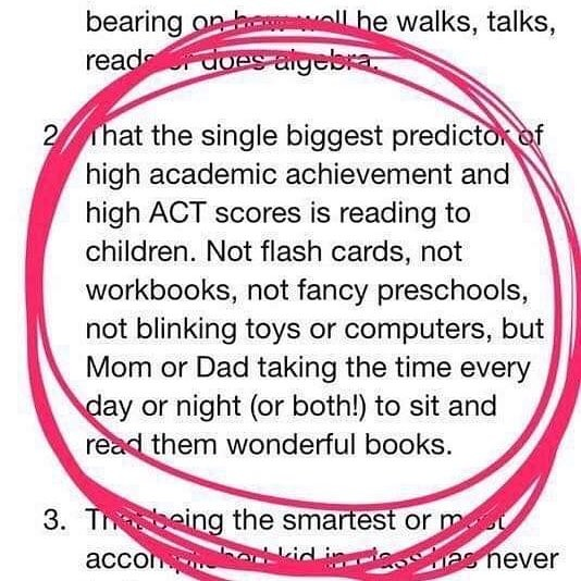 For your consideration this summer. Try to carve out some time in your routines for reading with your child. pic.twitter.com/iygzKUIhoQ
