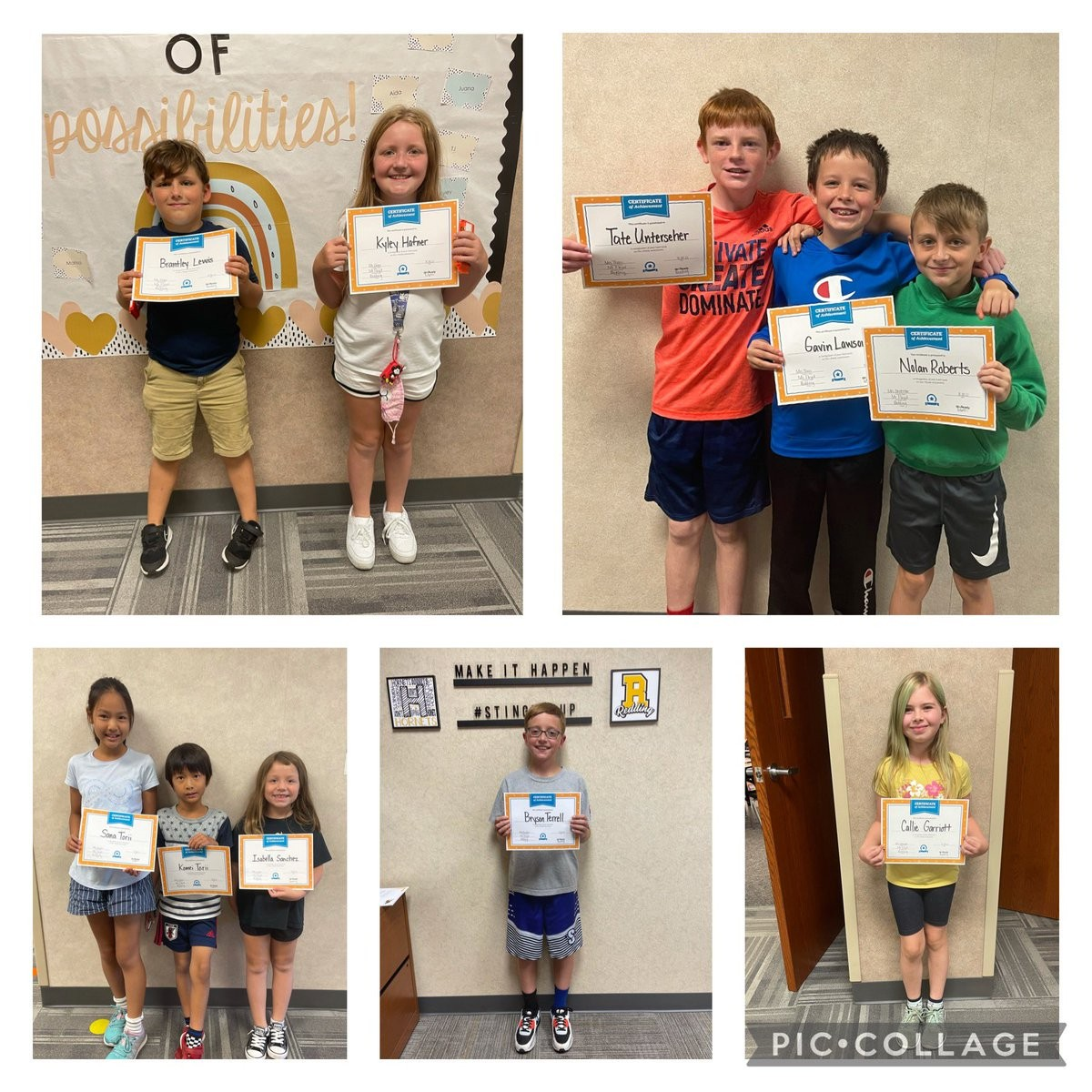 Today we recognized our top performers on the iReady Reading and Math Diagnostic with a certificate and candy! We are proud of their hard work and all our students hard work on their iReady Tests! Keep it up Hornets!  @CurriculumAssoc #stingersup #strive pic.twitter.com/LXD2Yz9ecH