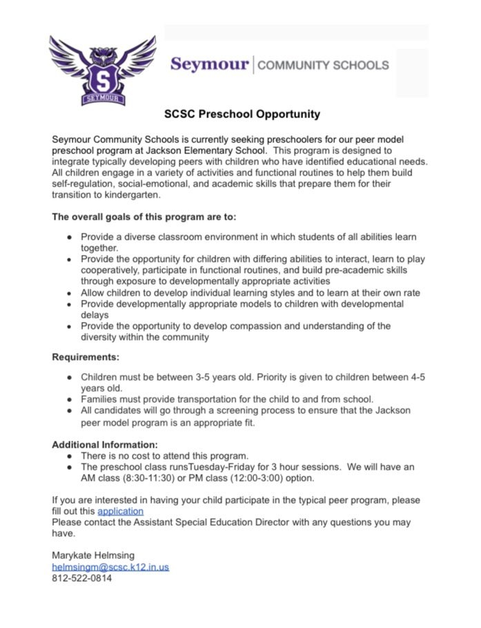 Attention Redding families with students of pre-school age. Please see information on an exciting new opportunity to be offered by SCSC. #Soar2X pic.twitter.com/J5MZW6ONq9